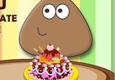 Pou Chocolate Cake