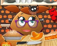 Pou Girl Pumkin Pie