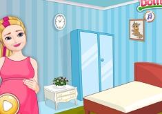 Pregnant Barbie Sparkle Room Decor