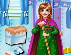 Princess Anna Cleaning Bathroom