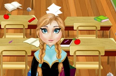 Princess Anna Cleaning Classroom