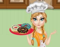 Princess Anna Cooking Donuts