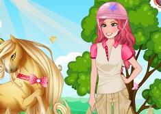 Princess Barbie Goes Unicorn Riding