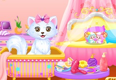 Princess Belle Kitten Caring