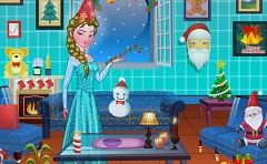 Princess Elsa Xmas Room Decor