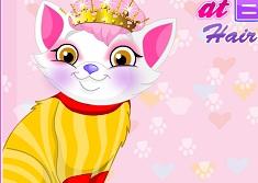 Princess Kitten at Barbie Hair Salon