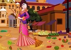 Princess Mulan Market Cleaning