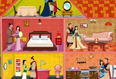 Princess Mulan Wedding Doll House