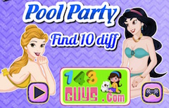 Princess Pool Party 10 Differences