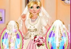 Princess Rapunzel Wedding Hair Design
