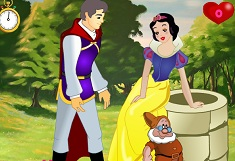 Princess Snow White Kissing Prince
