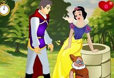 Princess Snow White Kissing Prince