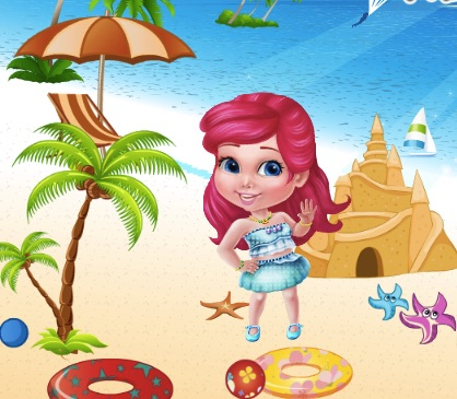 Princess Sofia at the Beach