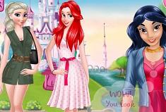 Princesses at Yard Sale