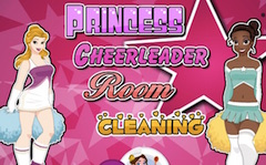 Princesses Cheerleaders Room Cleaning
