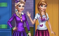 Amazing Elsa Punk Rock Braids Frozen Games Hairstyle Inspiration Daily Dogsangcom