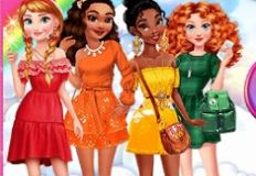 Princesses Rainbow Dress Up