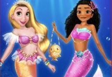 Princesses Turn into Mermaid
