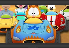 Puzzle Garfield in Kart
