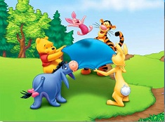 Puzzle Winnie and Friends Playing