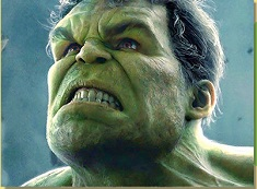 Puzzle with Angry Hulk