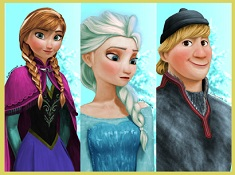 Puzzle with Anna and Elsa and Kristoff