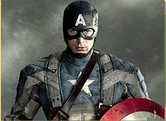 Puzzle with Captain America Hero