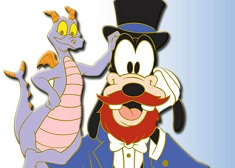 Puzzle with Goofy and Dragon