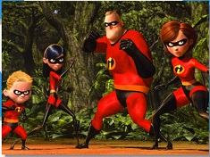 Puzzle with Incredibles Family
