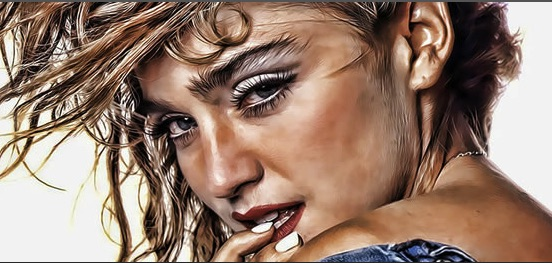 Puzzle with Madonna