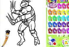 Rafael Ninja Turtle Coloring