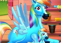 Rainbow Dash and the Newborn Baby