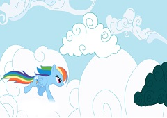 Rainbow Dash Atack