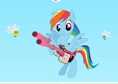 Rainbow Dash Cannon Shooting
