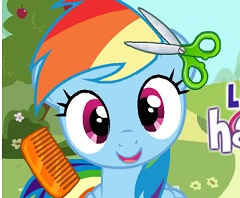 rainbow dash hair style rainbow dash hair salon my pony 6341