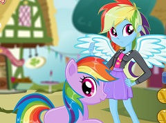 Rainbow Dash Human and Pony