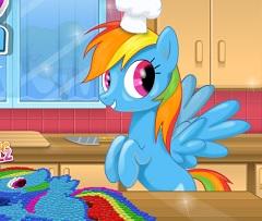 Rainbow Dash MnM Cake