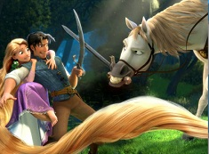 Rapunzel and Flynn and Maximus Puzzle