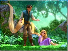 Rapunzel and Flynn Nature Puzzle