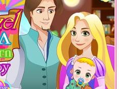 Rapunzel Birth a Newborn Baby