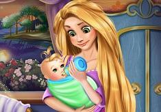 Rapunzel Feeding Baby