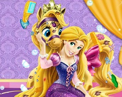 Rapunzel Pony Messy Game
