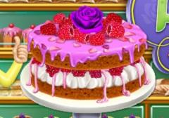 Rosewater and Raspberry Sponge Cake