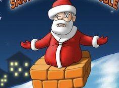 Santa Chimney Trouble