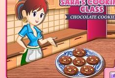 Sara Cooking Chocolate Cookies