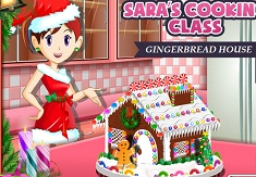 Sara Cooking Gingerbread House
