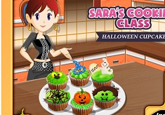 Sara Cooking Halloween Cupcakes