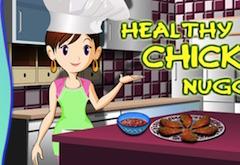 Sara Cooking Healhty Chicken Nuggets