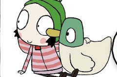 Sarah and Duck Colouring Fun