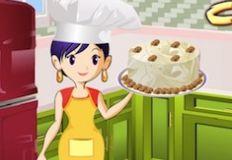 Sarah Cooking Carrot Cake